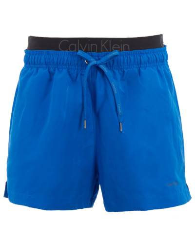 calvin klein herren calvin klein badehose mit doppeltem b ndchen in blau reduziert. Black Bedroom Furniture Sets. Home Design Ideas