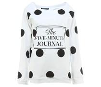 5MINUTES Sweatshirt mit Punkte Print Weiß
