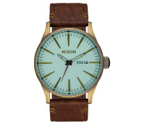 SENTRY LEATHER 42mm Armbanduhr Braun