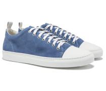 SORRENTO Low-Sneakers Veloursleder Light Blue