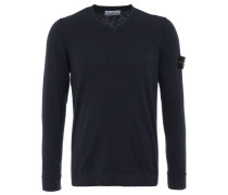 V-Neck Strickpullover in Dark-Petrol