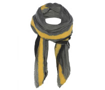 Tuch Schwarz-Grau mit Gelben Streifen