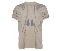 T-Shirt gemustert in Grau-Braun