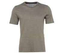 T-Shirt aus Leinen in Grau