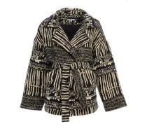Mantel mit Jacquard-Muster in Zebra-Optik