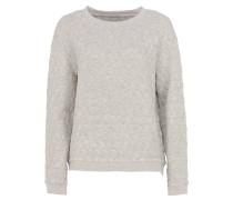 UNA Sweater mit Reißverschluss in Hellgrau