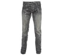 SLIM VOGUE schmale Slim-Jeans Used-Grau