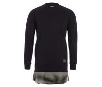 SHINJI 2 Sweater Layer-Look in Schwarz