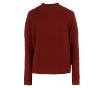 LYA Feinstrick-Pullover mit Stehkragen in Rostrot