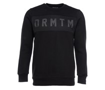 Sweater Mesh-Optik Schwarz