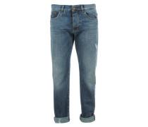 Destroyed Boyfriend Jeans Mittelblau