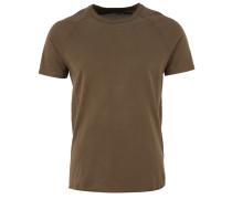 T-Shirt mit sporlichen Raglanärmeln in Khaki