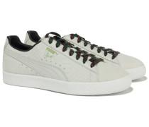 CLYDE GCC Sneakers Snake-Optik Weiß