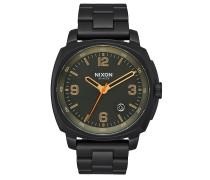 CHARGER Armbanduhr aus Edelstahl Schwarz