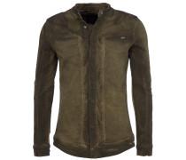 AIDAN Denim-Hemd in Used-Optik Olive