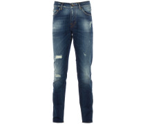 EVOLVE Slim-Fit Jeans Destroyed Blue