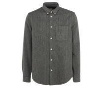 MILLS Button-Down-Hemd in Grau