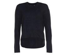 Feinstrick-Pullover Schwarz-Blau