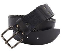 SHACKLE Ledergürtel mit Ketten-Details in Schwarz
