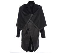 Mantel mit Regenschutz Schwarz