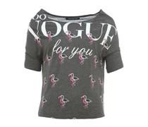 VOGUE kurzes T-Shirt mit Print Grau