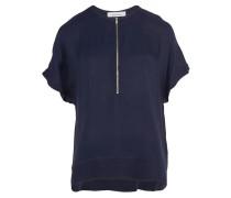 Samsøe Samsøe Shirt mit Reißverschluss in Blau