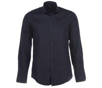 STEEL 1 Slim fit Hemd Blau Gepunktet
