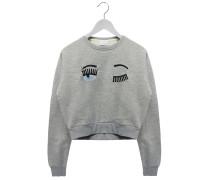 Sweater mitr Comic-Motiv in Grau