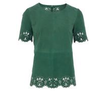 Ba&sh KRINCE Leder-Top perforiert in Grün