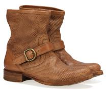 XENNY-Y Leder Boots Braun Strukturiert