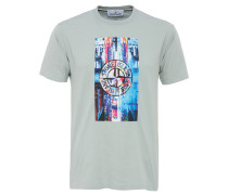 T-Shirt mit NYC-Print in Mint