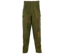 UPCYCLED PANEL Cargo-Pants Military Green