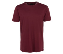 COREY SOL T-Shirt mit Ziernähten in Weinrot
