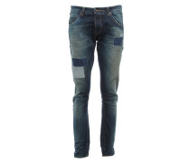 LAURO O OUTFIT Boyfriend Jeans mit Patchwork