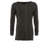 langes Longsleeve im Layer-Look in Olivegrün