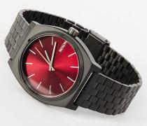 x Stierblut Design TIME TELLER 25 STIERBLUT Armbanduhr Matt Schwarz