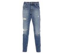 PISTOLERO Jeans Used-Look in Blau
