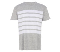 HIGHWAY EZBOY T-Shirt mit Streifen in Grau-Weiß