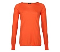 Leichter Strickpullover Orange
