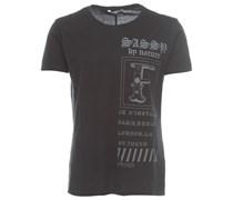 FLY Herren T-Shirt mit Print Schwarz