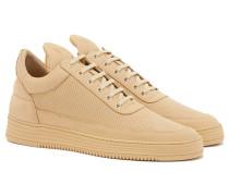 LOW TOP PERFORATED TONE Sneakers in Beige