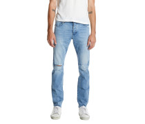 IGGI SKINNY BEATEN BLUE Distressed Jeans Hellblau