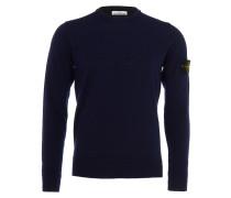 Feinstrick-Sweater mit Rundhals in Dunkelblau