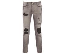 CLYDE Jeans Used-Look in Vintage Grau