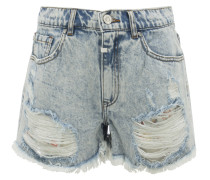GINA High Waist Jeans-Shorts in Hellblau