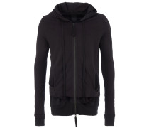 Sweatjacke Layer-Look in Schwarz
