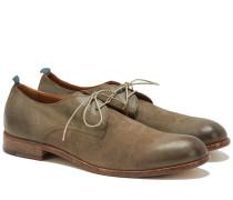 2-Loch Derby Schuhe aus Leder in Grau