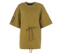 Oversize T-Shirt mit Tunnelzug in Olive Branch