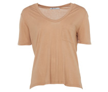 T by Alexander Wang T-Shirt mit Brusttasche in Rosa