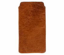Handyhülle aus Leder in Cognac